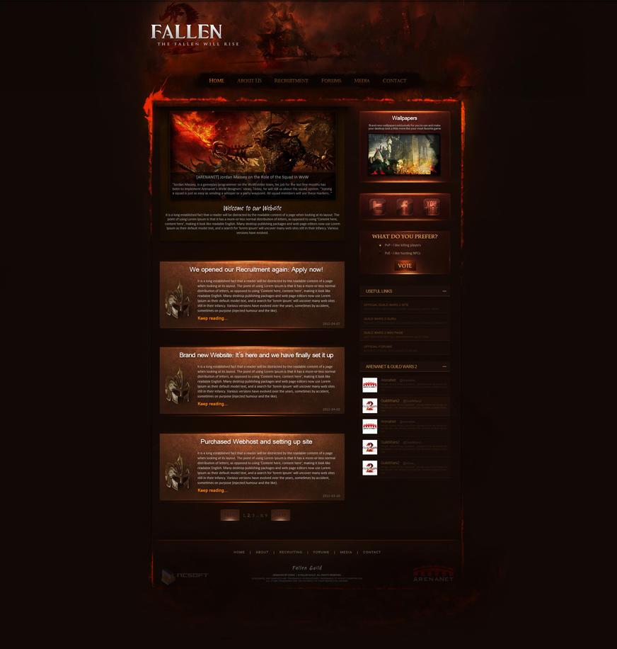 Fallen Guild Website By Xdrac On Deviantart