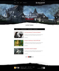 Black Desert Website Redesign