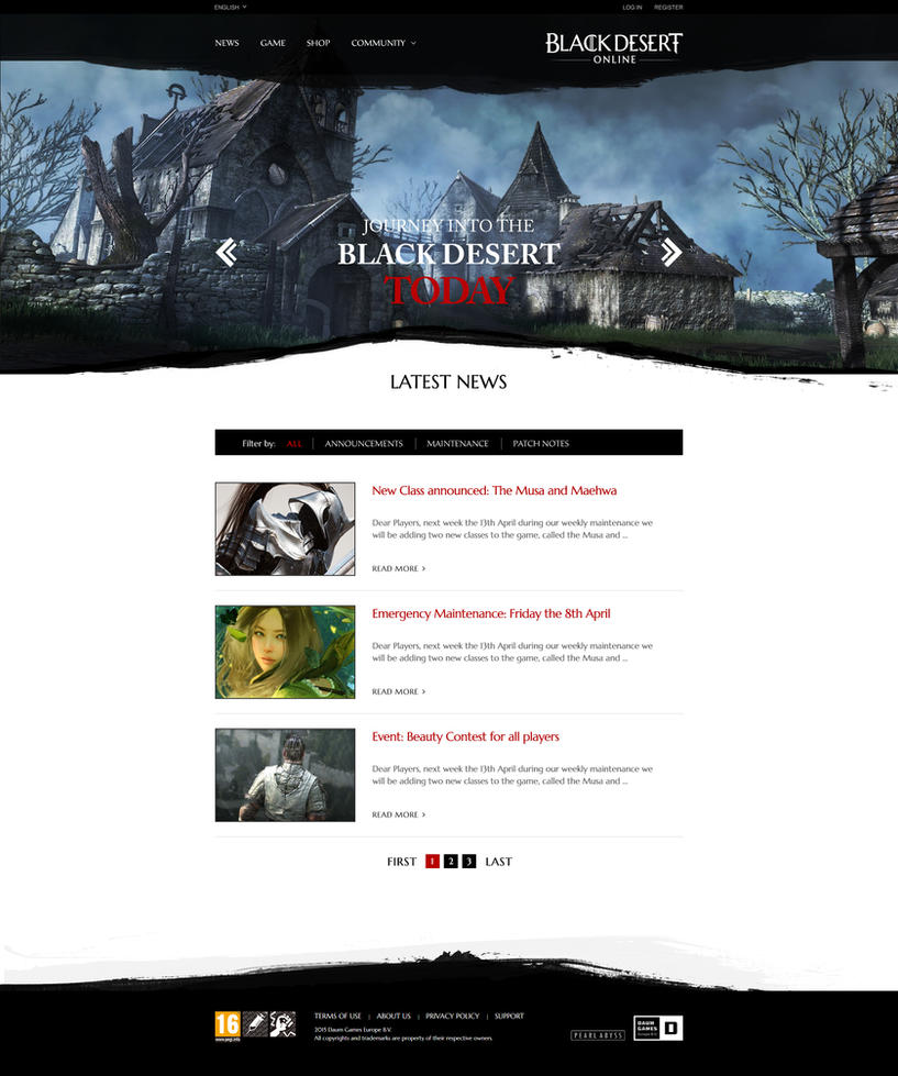 Black Desert Website Redesign by xDrac