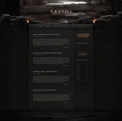 Kratos - Medieval Fantasy Website Design