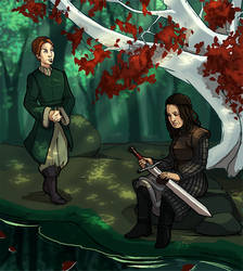 Eddard and Catelyn Stark Genderbend by CPatten