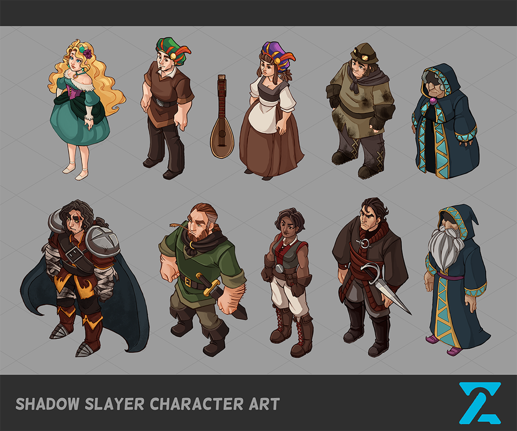 Game Design Character Artist : Shadow slayer character art by cpatten on deviantart