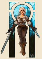 Ciri The Witcher 3: Wild Hunt by CPatten