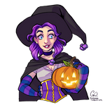 Witchy Abigail from Stardew Valley