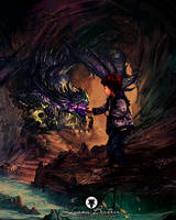 Dungeon and dragon by LuhaBiha