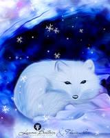 Arctic fox by LuhaBiha