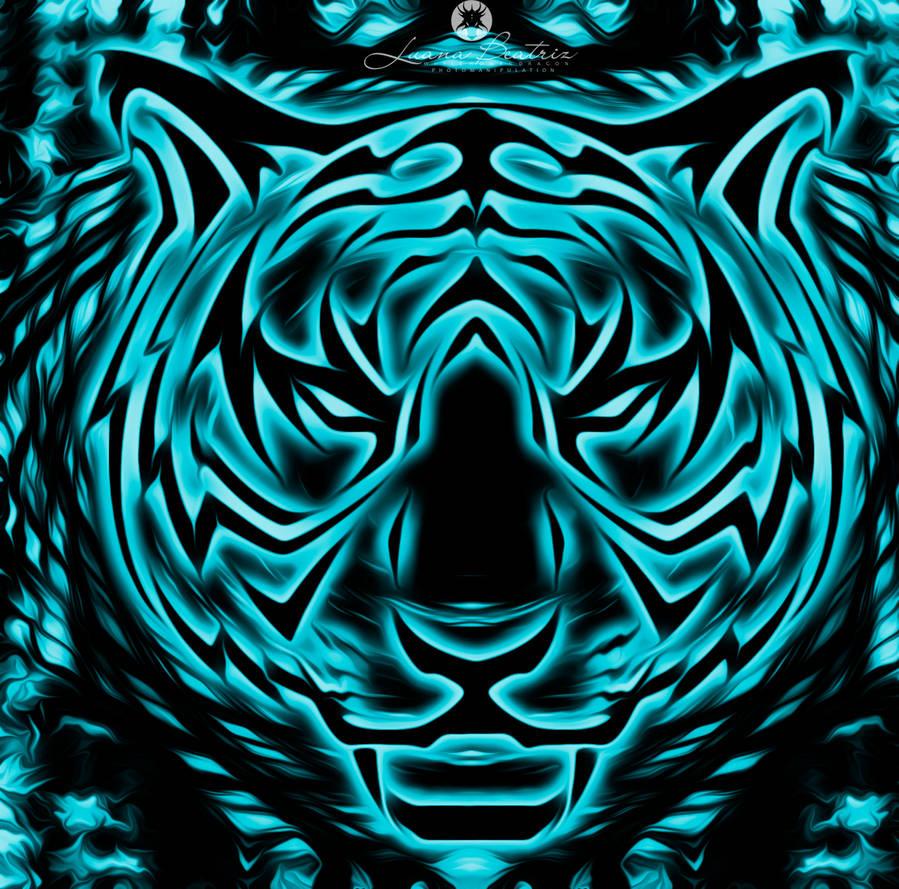 Abstract Tiger by LuhaBiha