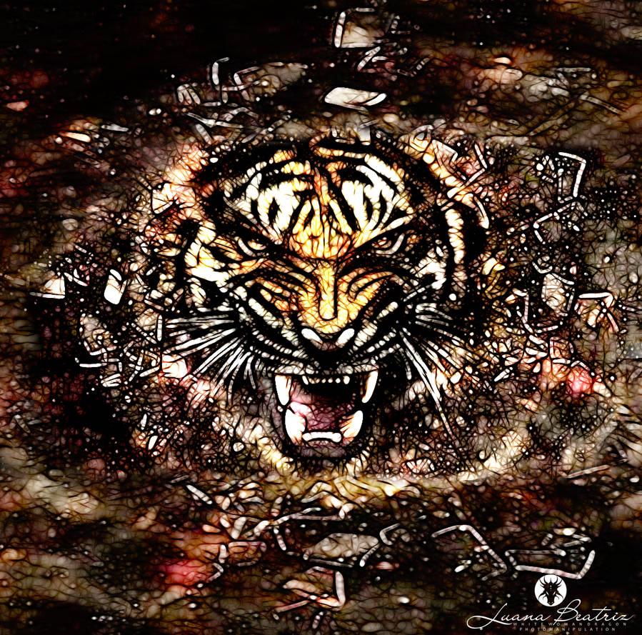 Abstract Tiger 2 by LuhaBiha