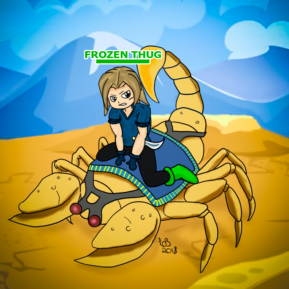 Warrior Scorpion king by LuhaBiha