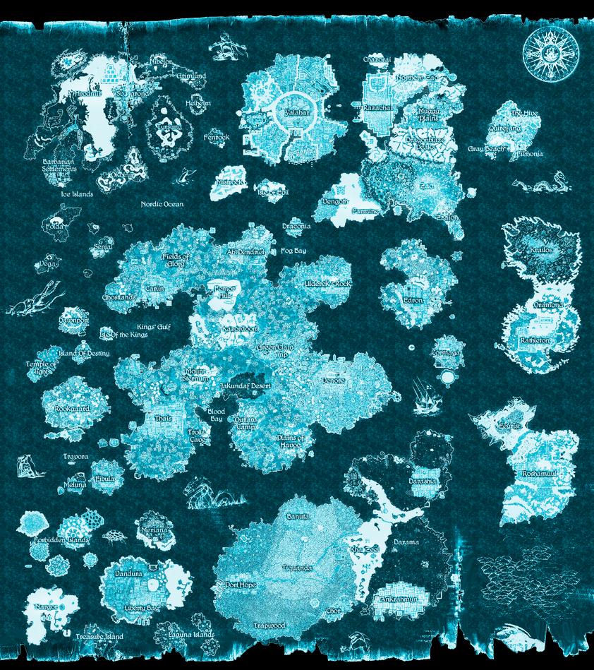 Ice Tibia Map by LuhaBiha