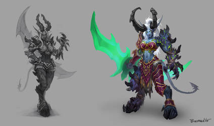 Dark elf lady demon hunter by birdman03