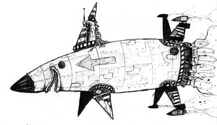 super nuclear anthropomorphic otomo shark rocket!