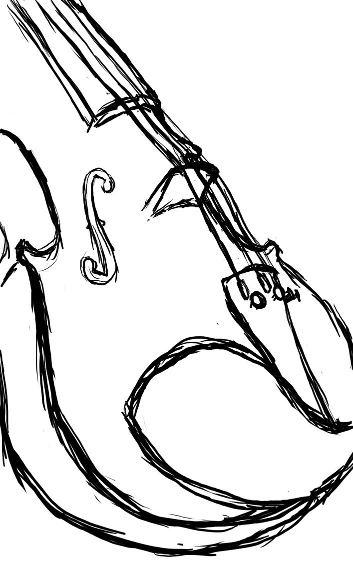 Line Drawing Violin : Violin sketch by princesszelda on deviantart
