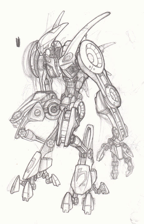 Another big robot by kidoho