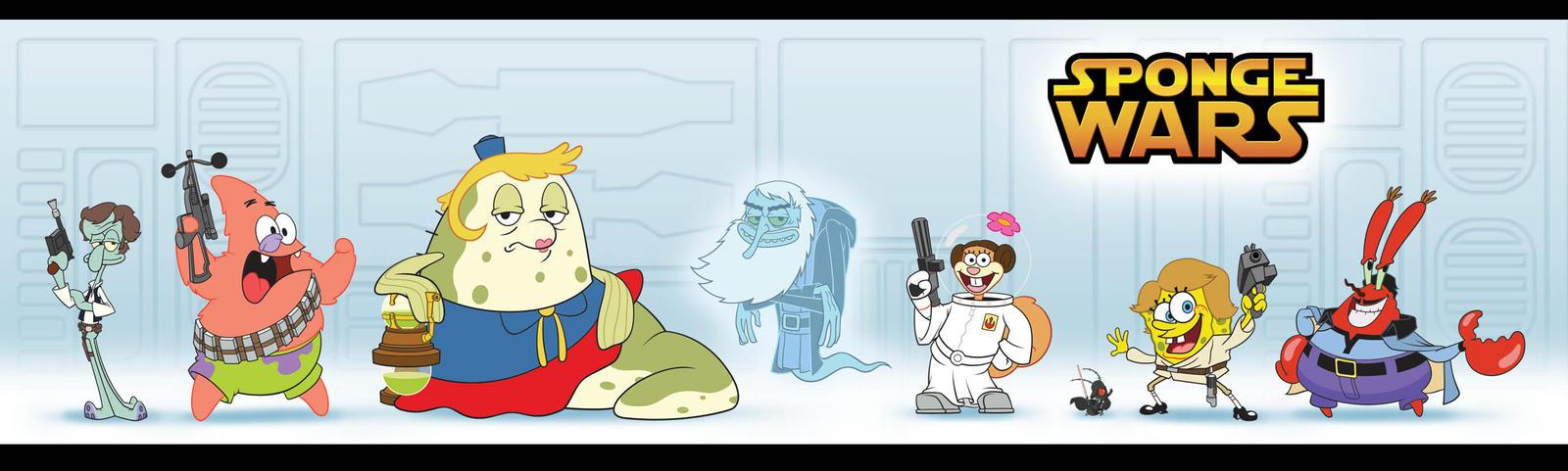 Sponge Wars by kidoho