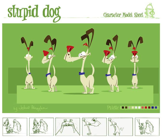Dog Character Model Sheet by kidoho