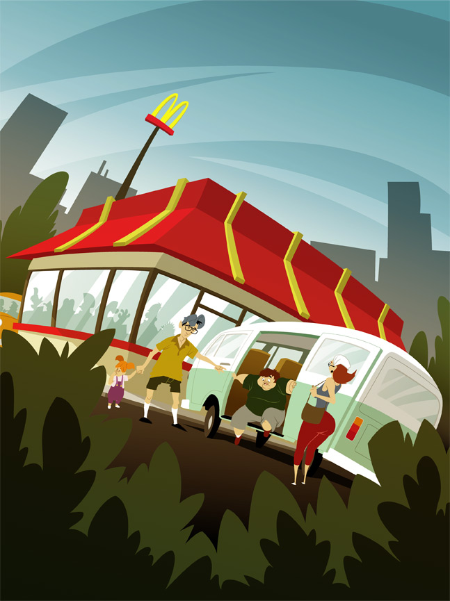 Family trip to Mc-D's by kidoho