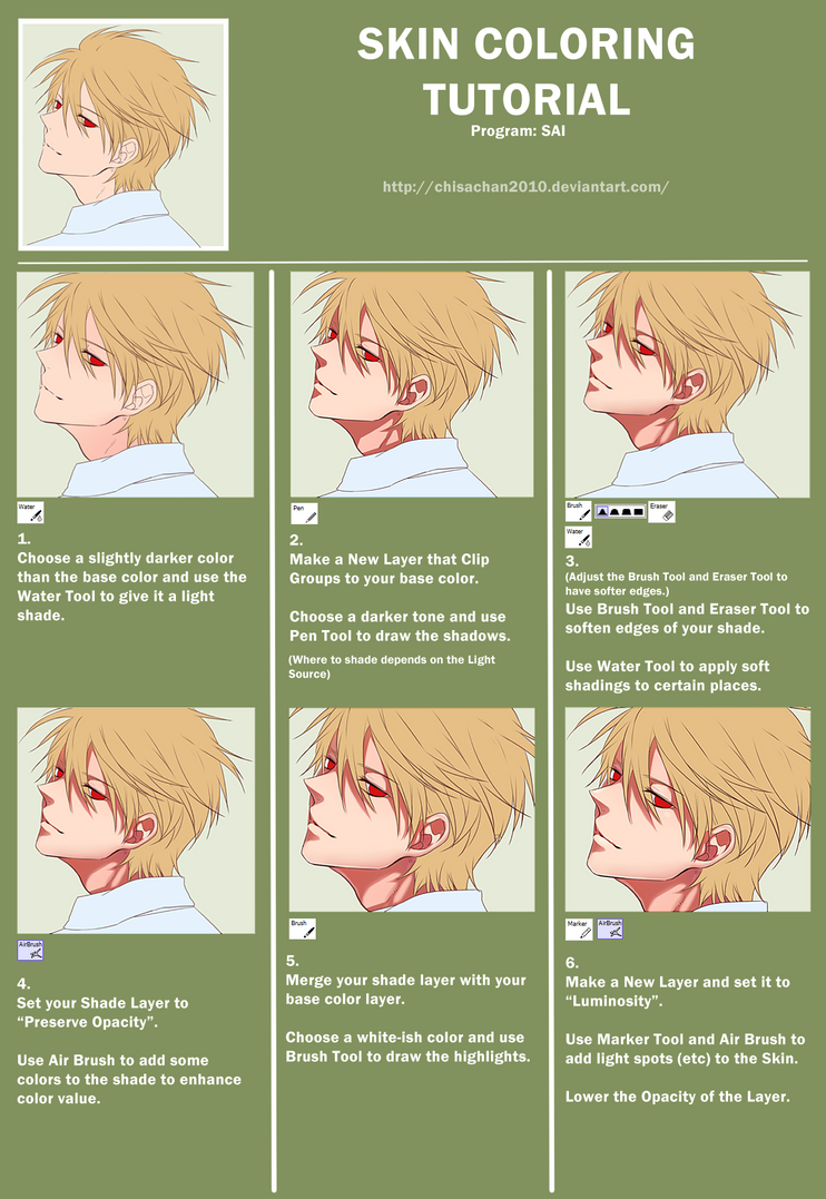 SKIN COLORING TUTORIAL by chisacha on DeviantArt