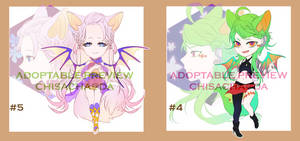 ADOPTABLE#4 +#5 Auction [CLOSED] by chisacha