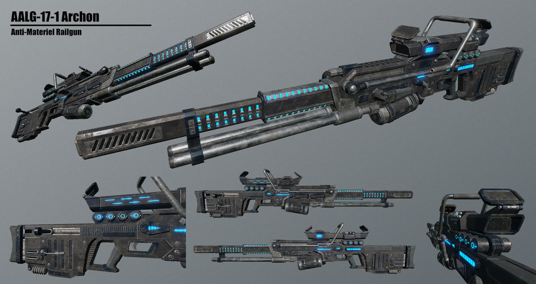 Archon Anti-Materiel Railgun by Arkhonus