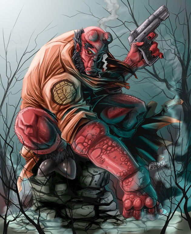 Hellboy by Frozforest