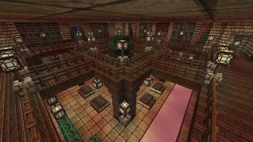 Minecraft fortress underground library 2 by for Minecraft interior wall designs