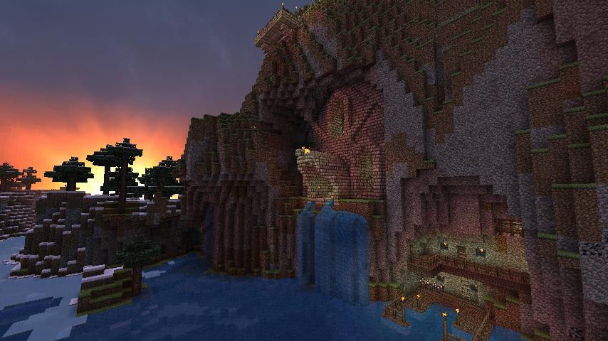 Minecraft - Mountain Base north - 779.8KB