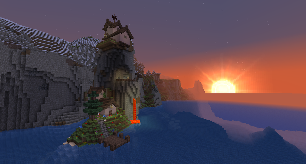 [Immagine: minecraft___cliff_house_by_homunculus84-d6rz372.png]