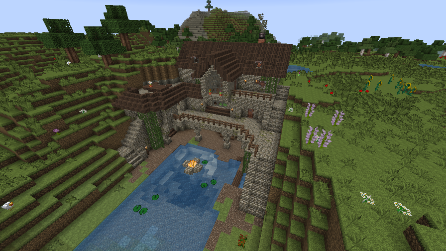 [Immagine: minecraft___pond_house_by_homunculus84-d72tlc6.png]