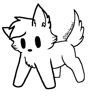 Free Cat Lineart Mspaint Version By Bloodtainte
