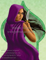 portrait adoption -Purple Jade by RachelHWhite