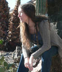 self portrait with cacti