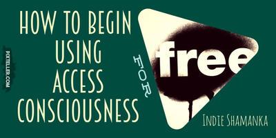 Access Consciousness Free (green) horizontal versi