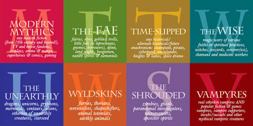 OtherWorlds Festival Factions - typography designs