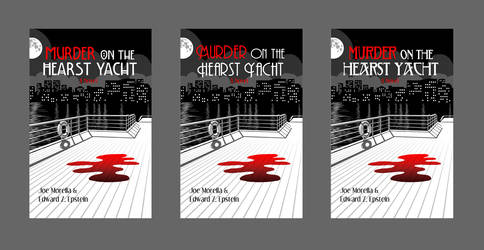 Murder on the Hearst Yacht book cover - fonts