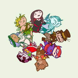 OtherWorlds Factions - chibi representative circle by RachelHWhite