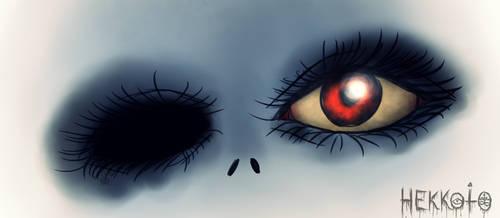 Creepy face by Hekkoto