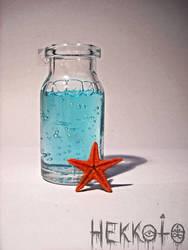 World in bottle - Blue Lagoon by Hekkoto
