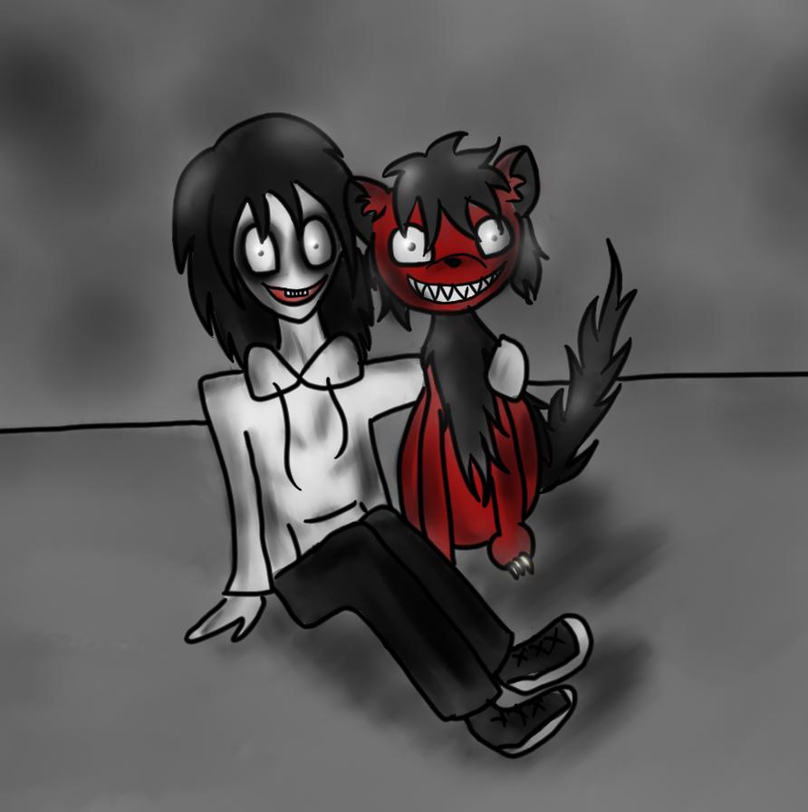 jeff the killer and smile dog by hekkoto on deviantart