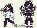 Paper Dolls - Jeff the Killer and Laughing Jack