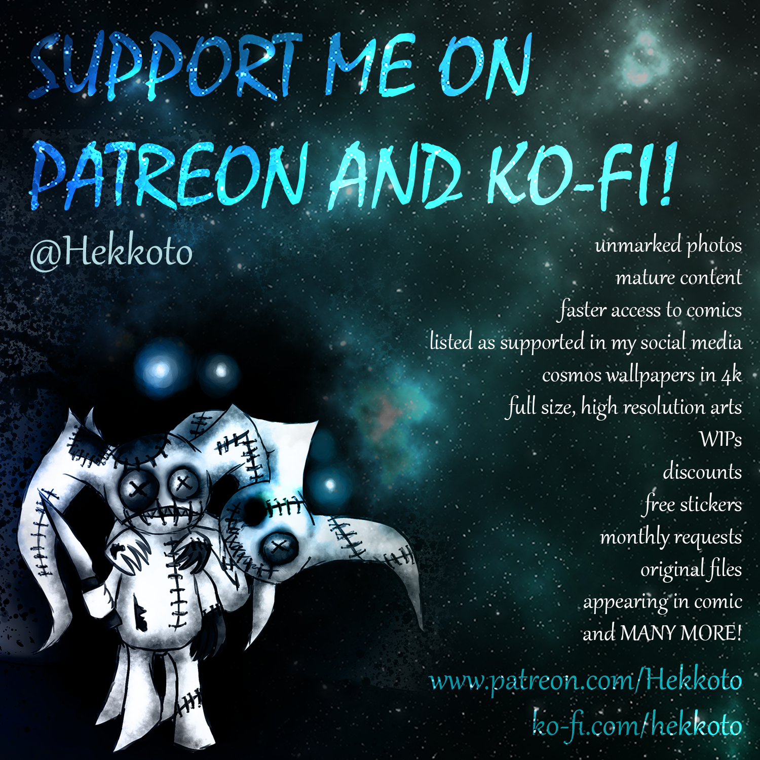 Support me on Patreon and Ko-fi~