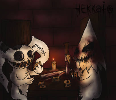 Late night chill with cards by Hekkoto