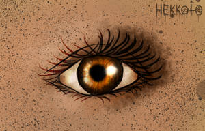 Brown eye by Hekkoto