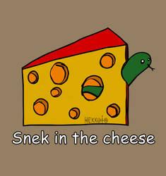 Day 44: Snek in the cheese [365 days of snek] by Hekkoto