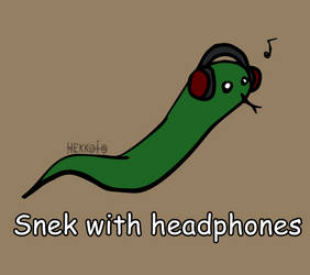 Day 67: Snek with headphones [365 days of snek] by Hekkoto