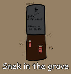 Day 75: Snek in the grave [365 days of snek] by Hekkoto