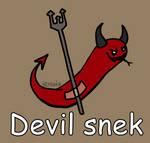 Day 115: Devil snek [365 days of snek Project]