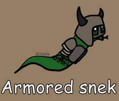 Day 125: Armored snek [365 days of snek Project]