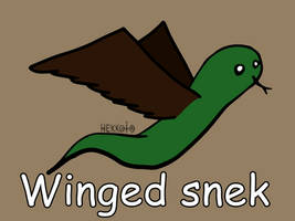 Day 191: Winged snek [365 days of snek Project]