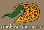 Day 197: Snek eating pizza [365 days of snek Proje